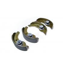 Conjunto de 4 sapatas de freio aixam microcarro / ligier / jdm / chatenet diametre ( tambor 160mm )